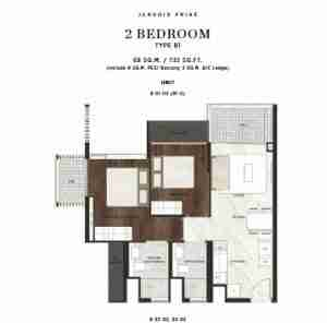 Jervois-Prive-singapore-floor-plan-2-bedrooms